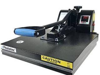ePhotoInc Digital T Shirt Heat Press Machine Industrial Quality Printing Press EPH15BlK