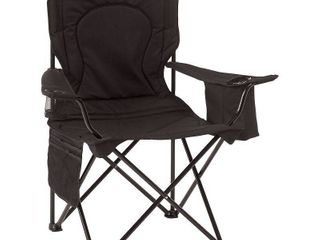 Coleman Camping Chair with 4 Can Cooler   Chair with Built In 4 Can Cooler  Black