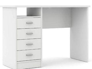 Tvilum Desk with 4 Drawers  White