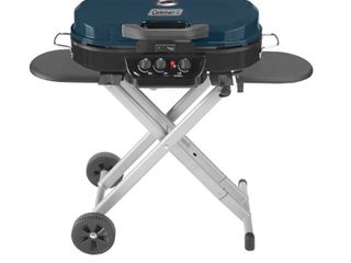 Coleman RoadTrip 285 Portable Stand Up Propane Grill  Blue