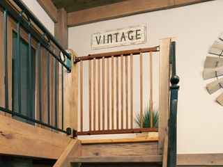 Evenflo Farmhouse Collection Walk Thru Top of Stairs Gate