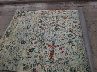 Decomall Vienna Persian Area Rug Vintage Distressed Oriental Medallion Carpet for living Room  Bedroom  5x7ft  Multicolor