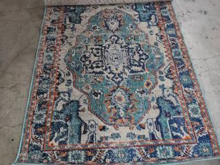 6 ft x 4 ft multicolored rug