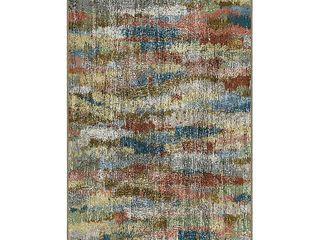 Brumlow Mills Rustic Earthtones Vintage Abstract Printed Rug  lt Beige  2 5X3 5 Ft