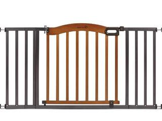 Summer Decorative Wood   Metal Safety Baby Gate