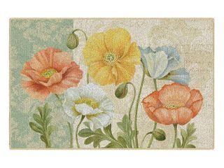 Brumlow Mills Pastel Poppies Printed Rug  Multi  1 5x3 Ft