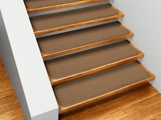 Set of 15 Skid resistant Carpet Stair Treads   Toffee Brown   9 In  X 36 In    Several Other Sizes to Choose From