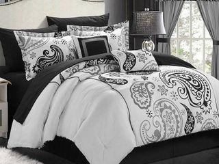 Chic Home Olivia 20 Piece Paisley Print Reversible Comforter Set