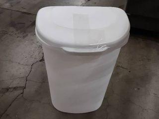 Rubbermaid white 13 gallon trash can