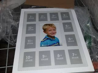 White school photo collection picture frame