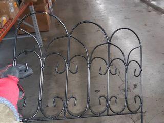 pack of 25 iron garden stake mini fences