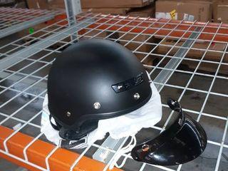 Core black helmet with visor