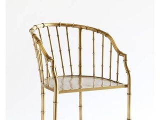 Brass Bamboo Arm Chair