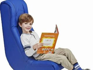 Soft Floor Rocker   Cushioned Ground Chair for Kids Teens and Adults   Great for Reading  Gaming  Meditating  TV   Blue