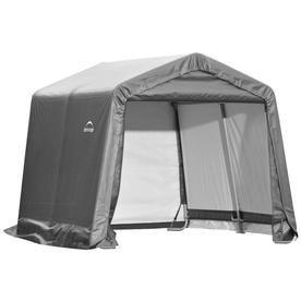 Gray Peaktop Storage Shed   10 x 10 x 8