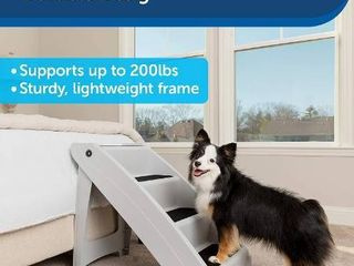 PetSafe CozyUp Folding Pet Steps  Foldable Steps for Dogs and Cats  Best for Small to large Pets
