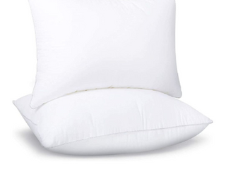 Soamay Bed Pillows for Sleeping Set of 2  Premium Plush Fiber  Down Alternative Pillows  Good for Side and Back Sleeper 20 x 26 Inches  Standard