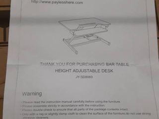 bar table height adjustment desk