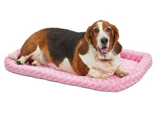 MidWest QuietTime Pet Bed   Dog Crate Mat  Pink  36