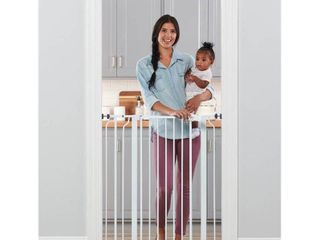 Regalo Easy Step Extra Tall Walk Thru Baby Gate  Includes 4 Inch Extension Kit  4 Pack of Pressure Mount Kit and 4 Pack Wall Cups and Mounting Kit