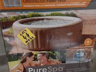 Intex 28425E 77in PureSpa Inflatable Spa  4 Person  Tan