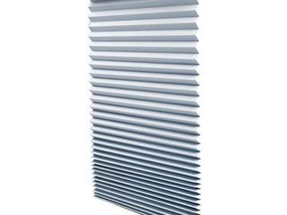 Quick Fix Room Darkening Pleated Paper Shade Gray  36  x 72  6 Pack