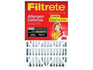 Filtrete Micro Allergen Defense Filter  20 Inches x 25 Inches x 4 Inches  2 Pack