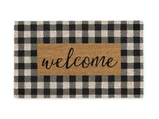 DII Checkers Welcome Doormat  18x30x0 5