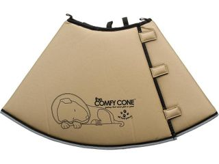 Comfy Cone Pet E Collar  Xlarge  Tan