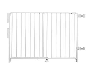 Regalo Extra Tall and Wide 2 in 1 Stairway and Hallway Wall Mounted Baby Gate  Bonus Kit  Includes Banister and Wall Mounting Kit
