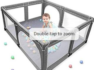 Yobest Baby Playpen  Extra large Play Yard for Infants  Sturdy Safety Infant Playard  Indoor Outside Big Toddler Play Pen with Gates  Portable Babys Fences for Babies  Infant  Kids  Childs