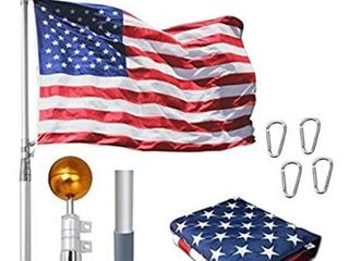 wofirm 25ft telescopic alum flag pole kit