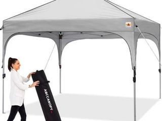 ABCCANOPY Canopy Tent 10x10 Pop Up Canopy Outdoor Canopies Super Comapct Canopy Portable Tent Popup Beach Canopy Shade Canopy Tent with Wheeled Carry Bag Bonus 4xWeight Bags 4xRopes 4xStakes