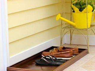 Shoe Rack  Pinecone Pattern Galvanized Steel Boot Tray   Venetian