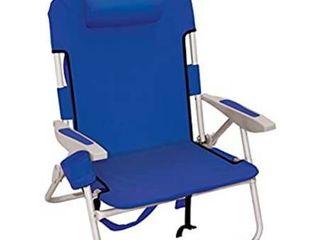 Rio Beach Big Boy Folding 13 Inch High Seat Backpack Beach Or Camping Chair Navy
