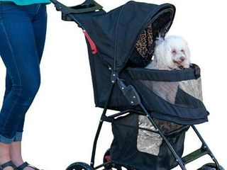 Pet Gear NO Zip Happy Trails lite Pet Stroller for Cats Dogs  Easy Fold with Removable liner  Storage Basket