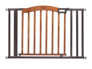 Summer Infant Decorative Wood   Metal Extra Wide Pressure Mounted Gate