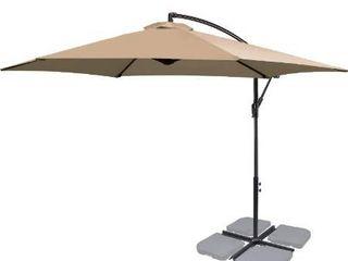 FRUITEAM 10Ft Patio Offset Umbrella