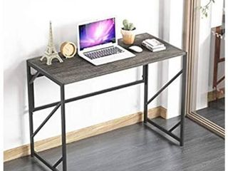 Elephance Folding Computer Desk 39 inches Study Office Desk for Home Office  No Assembly Writing Desk Foldable Table for Small Spaces