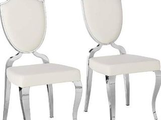 Milan leticia Heart Back Cabriole Designed Side Chairs  Set of 2