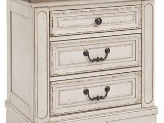 Signature Design by Ashley Realyn Nightstand  Chipped White