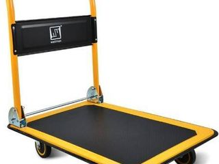 Push Cart Dolly By Wellmax  Moving Platform Hand Truck  Foldable For Easy