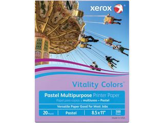 Xeroxi1 2 Vitality Colorsi1 2 Multi Use Printer Paper  letter Size  8 1 2  x 11  20 lb  30  Recycled  lilac  Ream Of 500 Sheets