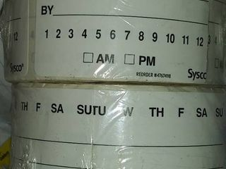2 Rolls of Sysco labels