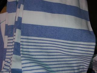 2 Count Oversize Dish Towels Blue And White With Tassels