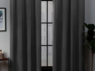 Exclusive Home Curtains 2 Pack Academy Total Blackout Grommet Top Curtain Panels