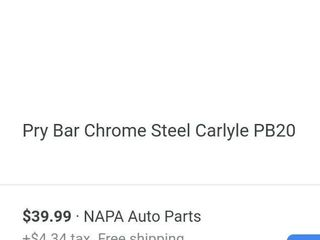 Carlyle 20  Roll Head Pry Bar