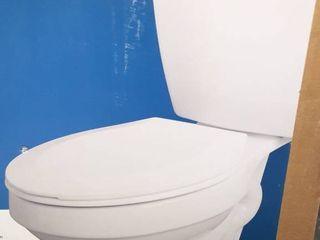 White Round Colby Toilet with Toilet Seat