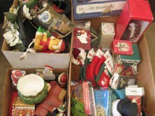 3 boxes of Christmas decor
