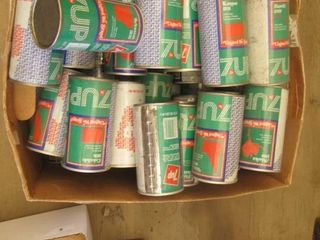 United We Stand  Vintage empty 7 up cans when put together creates sign  United We Stand
